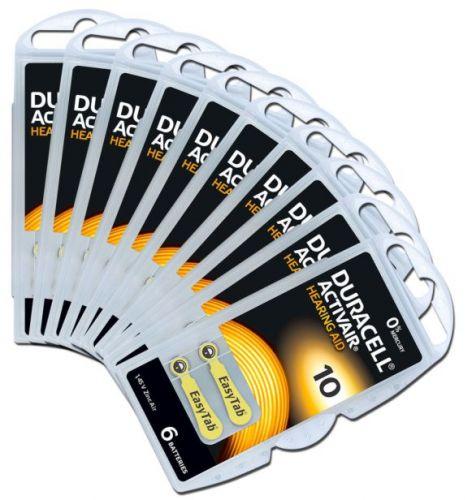 DURACELL ACTIVAIR 10 Numara İşitme Cihazı Pili / PR70 Pil / 10 KART