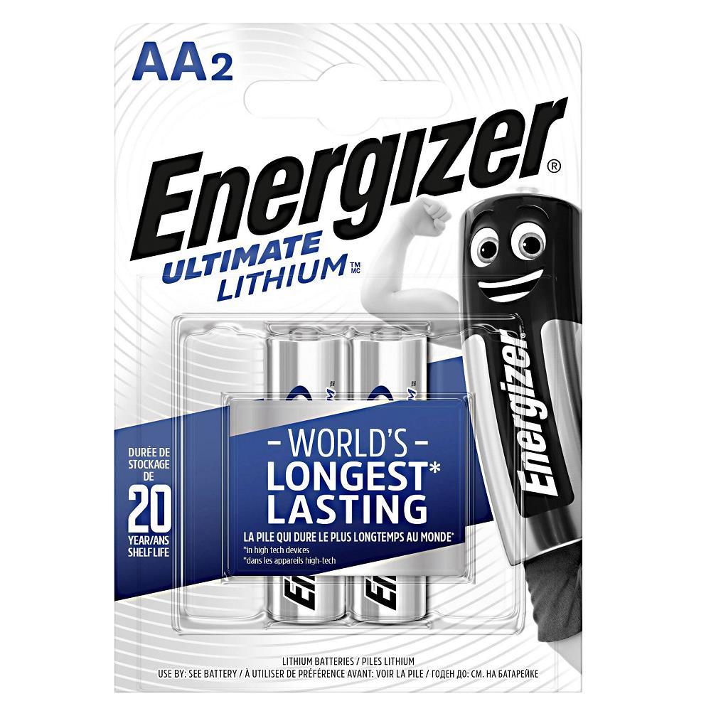 Energizer E91 Ultimate Lityum AA Kalem Pil 2\'li Paket