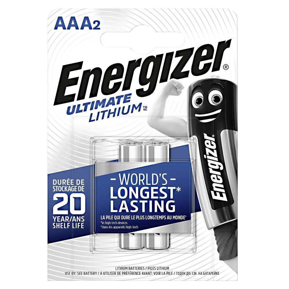 Energizer E92 Ultimate Lityum AAA İnce Kalem Pil 2\'li Paket