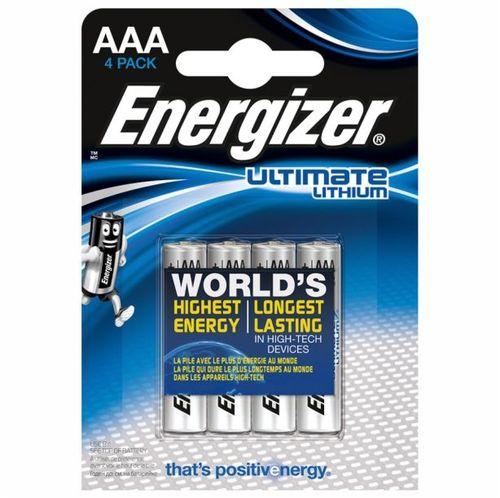 Energizer Ultimate Lityum 1.5V AAA İnce Kalem Pil