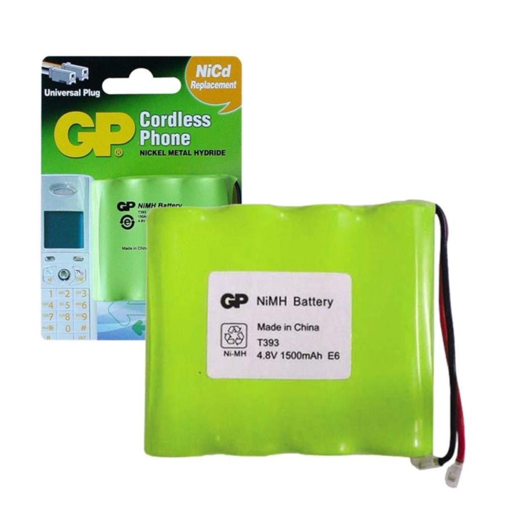 GP T393 4.8V 1500mAh Şarj Edilebilir Telsiz Telefon Pili 4\'lü Paket