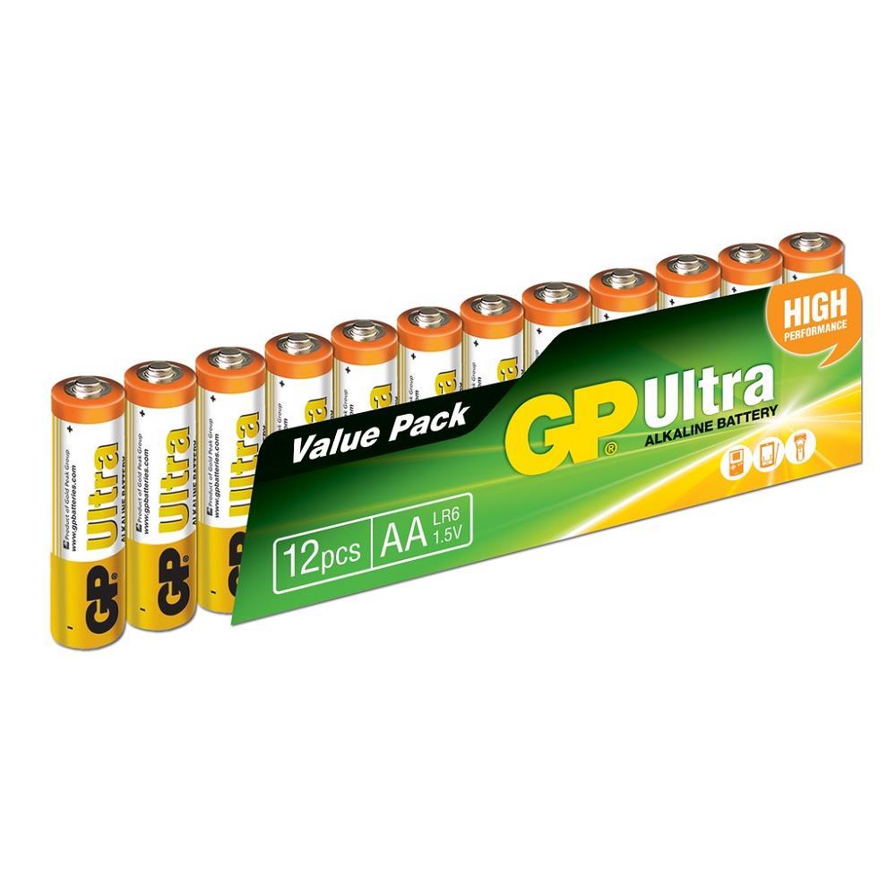 GP Ultra Alkalin AA Kalem Pil 12\'li Paket