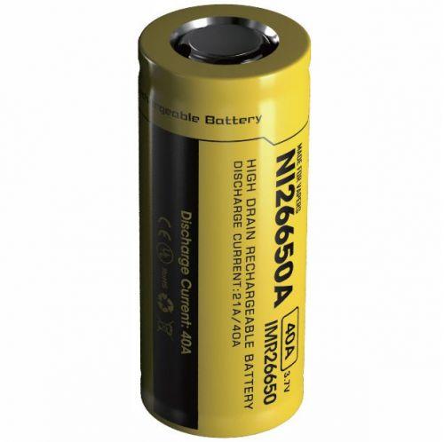 Nitecore IMR 26650 4200 mAh Lithium-Ion Pil / 40Ah