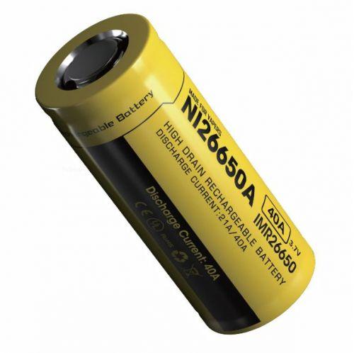 Nitecore IMR2665 Nitecore IMR 26650 4200 mAh Lithium-Ion Pil / 40Ah