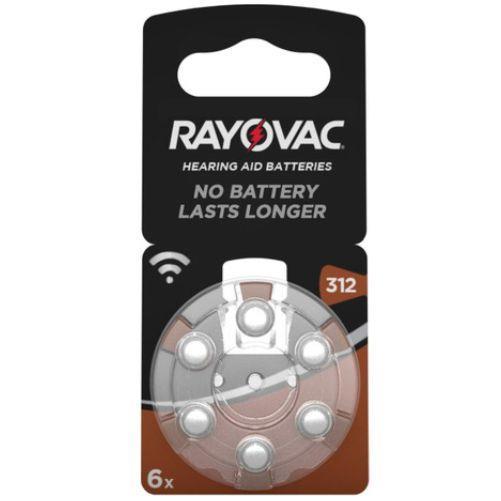 Rayovac 312 Numara PR41 İşitme Cihazı Pili 6\'lı Paket