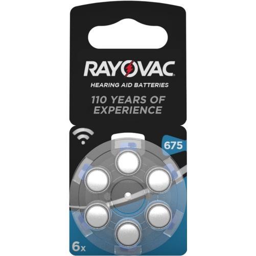 Rayovac 675 Numara PR44 İşitme Cihazı Pili 6\'lı Paket