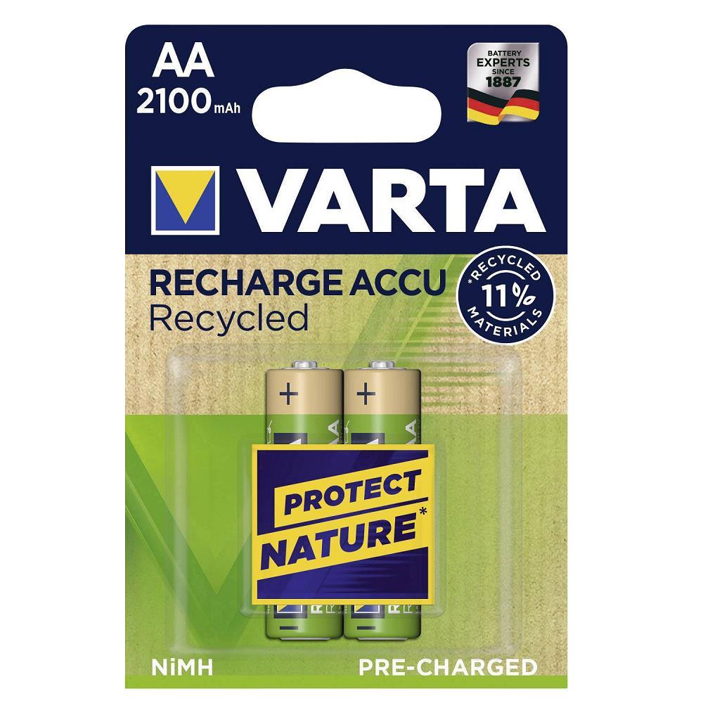 VARTA 56816 Recycled Şarjlı Kalem Pil AA 2100 Mah 2\'Li Kart