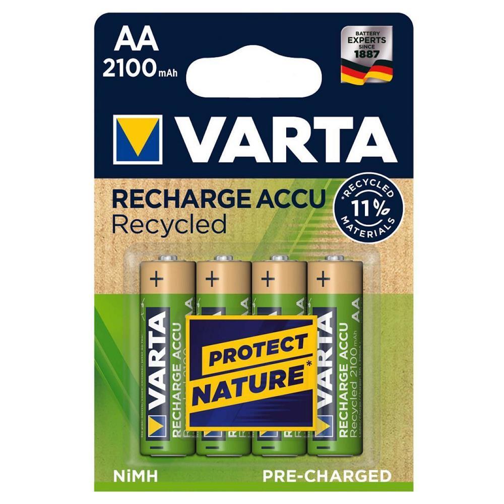 VARTA 56816 Recycled Şarjlı Kalem Pil AA 2100 Mah 4\'Lü Kart