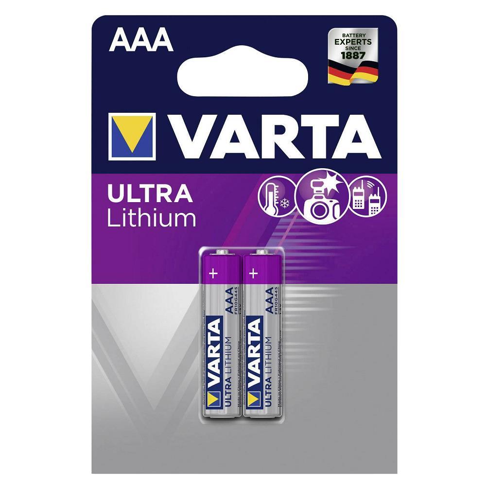 Varta 6103 Lityum AAA İnce Kalem Pil 2\'li Paket