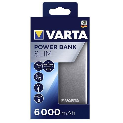 Varta 57960 Slim Powerbank 6.000mAh