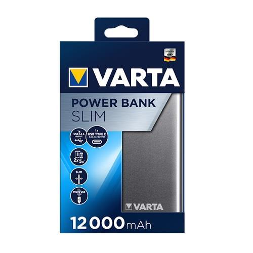 Varta 57966 Slim Powerbank 12.000mAh