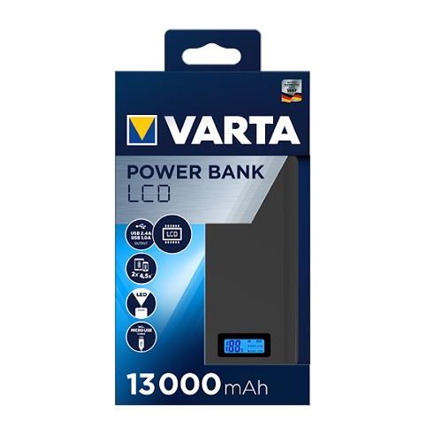 Varta 57971 Powerbank Lcd Ekran 13.000mAh