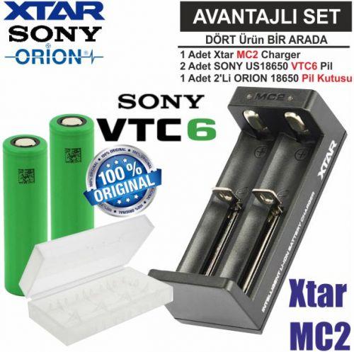 Xtar MC2 Şarj Aleti, Sony VTC6 Li-ion Pil, ORION 1
